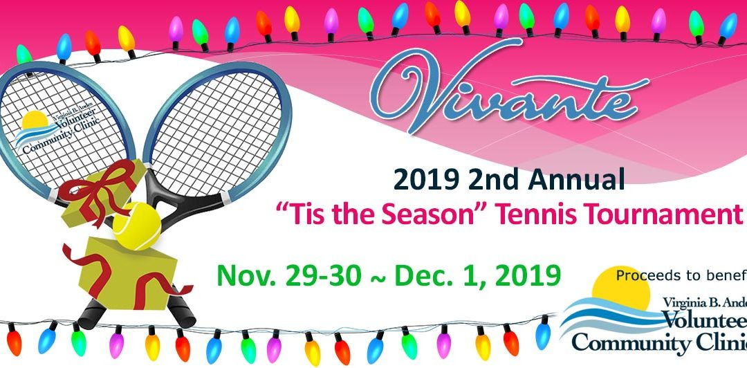 2019 'Tis the Season Vivante Tennis Tournament Winners