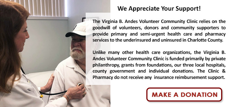 Donate to the VBA Clinic & Pharmacy
