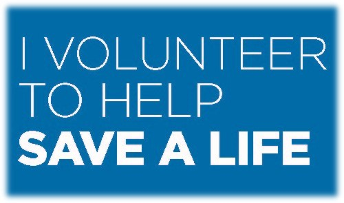 I Volunteer to Help Save a Life (image)