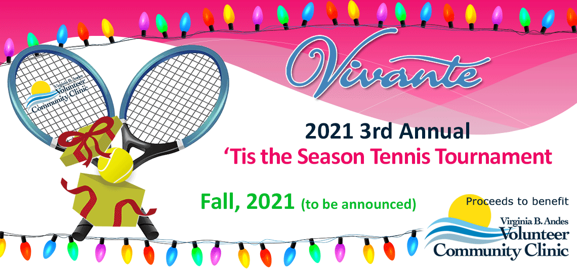 2021 'Tis the Season Vivante Tennis Tournament banner